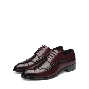 Gaufrage Lace Up Chaussures formelles -