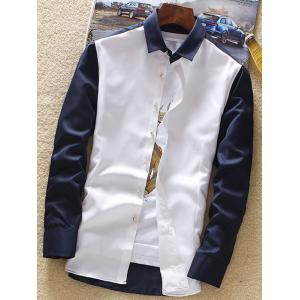 Long Sleeve Two Tone Shirt -