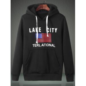 American Flag Graphic Kangaroo Pocket Hoodie -
