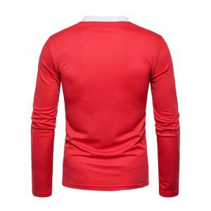 Edging Long Sleeve Polo T-shirt -