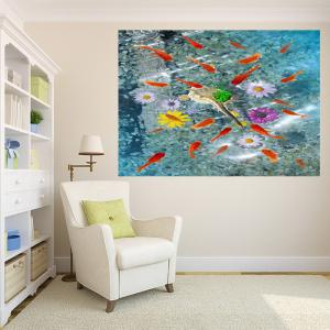 Removable Fishes In Water Patterned Multifunction Wall Art Painting -