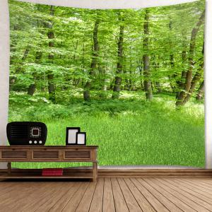 Waterproof Green Forest Pattern Wall Hanging Tapestry -