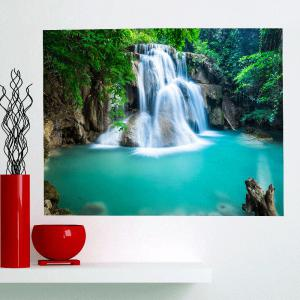 Multifunction Mountain Waterfall Patterned Removable Wall Art Painting -