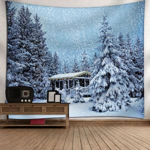Christmas Snowscape Pattern Wall Tapestry -