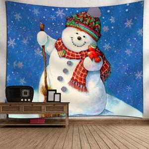 Christmas Wall Hanging Snowman Tapestry -