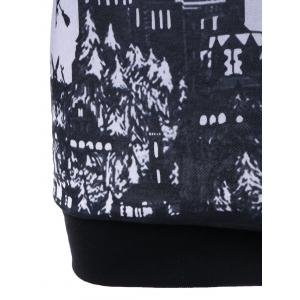 Halloween Plus Size Graphic Hoodie -
