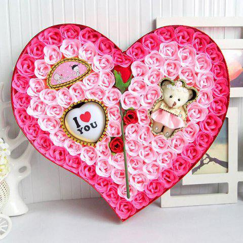 Valentine's Day Heart Shape Rose Flowers Nouveauté Gift Light