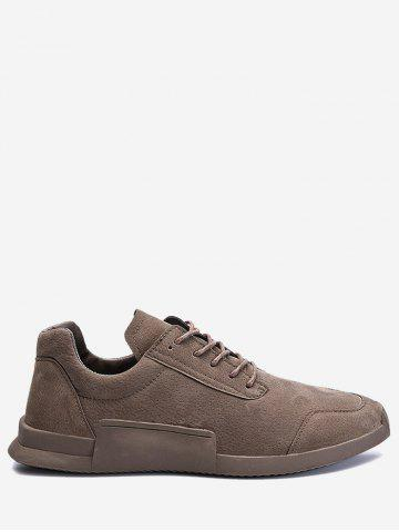Shops Round Toe Lace Up Sneakers - 44 KHAKI Mobile