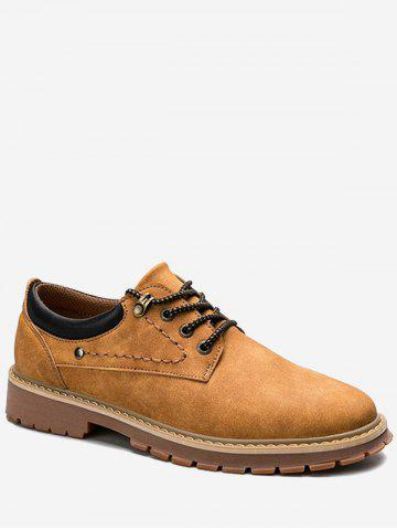Trendy Lace Up Stitching Low Top Casual Shoes - 43 YELLOW Mobile