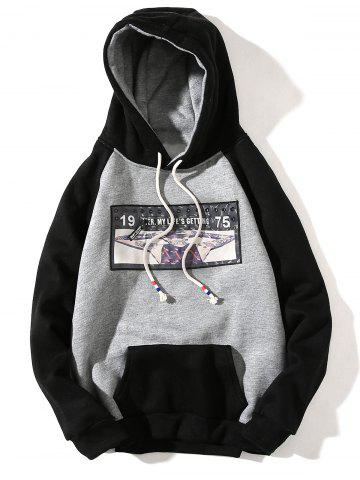 Affordable 3D Figure Print Applique Zipper Pullover Hoodie