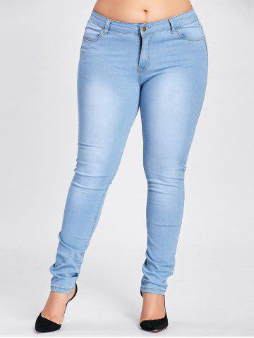Store Plus Size Stretch Light Wash Jeans - 2XL WINDSOR BLUE Mobile