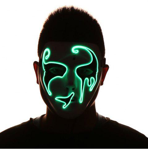 Online Halloween EL Wire Luminous Flashing Mask