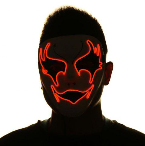 Affordable EL Wire Luminous Halloween Costume Mask
