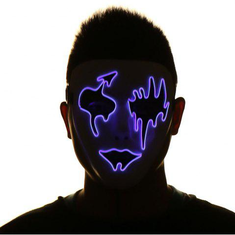 Fancy EL Wire LED Luminous Halloween Mask - PURPLE  Mobile