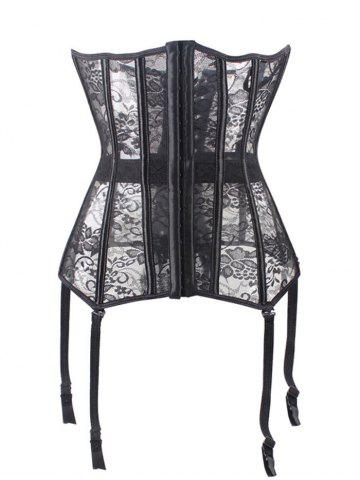 Fancy Lace See Through Corset