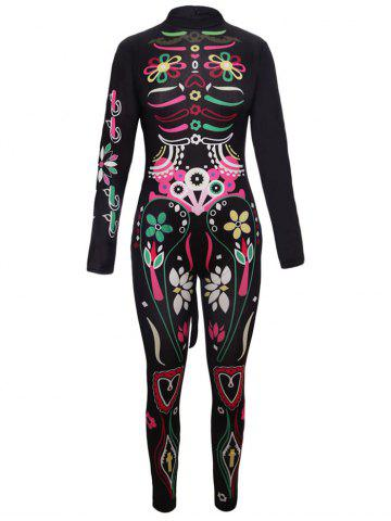 New Printed Halloween Cosplay Jumpsuit BLACK XL