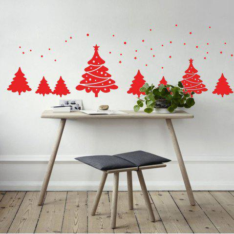 Affordable Christmas Tree Pattern Wall Art Sticker For Bedrooms
