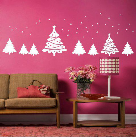 New Christmas Tree Pattern Wall Art Sticker For Bedrooms - 56*31CM WHITE Mobile