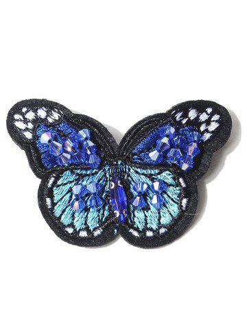 Outfit Butterfly Embroidery Shape Brooch BLUE