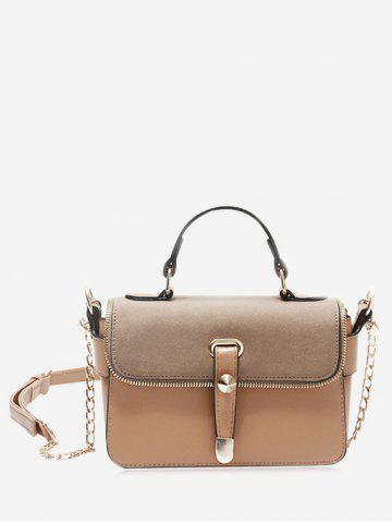 Hot Metal Chain Zip Handbag