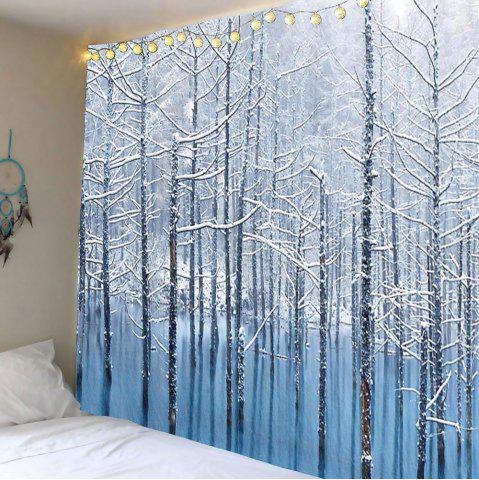 Buy Wall Hanging Lake Snowscape Pattern Tapestry GREY WHITE W59 INCH * L59 INCH