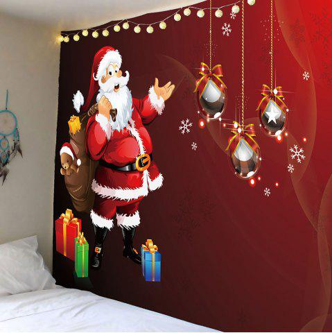 Fancy Santa Claus Gift Pattern Wall Art Tapestry - W59 INCH * L51 INCH RED Mobile