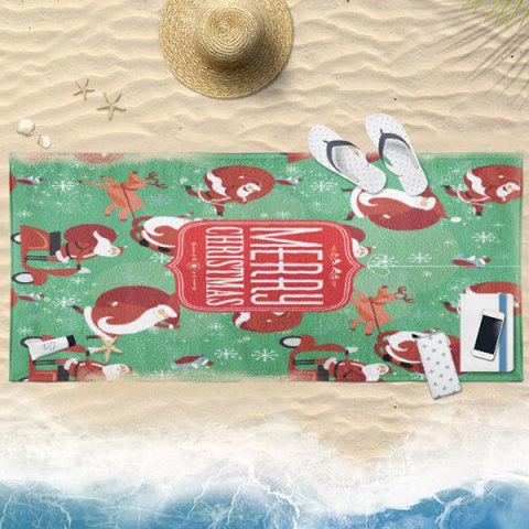 Serviette de bain Cartoon Cartoon Santa Claus