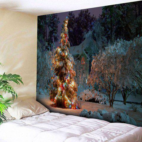 Buy Snowscape Christmas Tree Wall Tapestry COLORMIX W79 INCH * L59 INCH