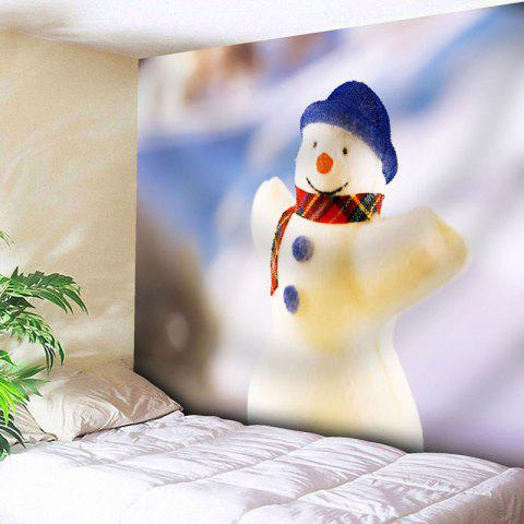 Affordable Wall Decor Snowman Christmas Tapestry - W79 INCH * L59 INCH WHITE Mobile