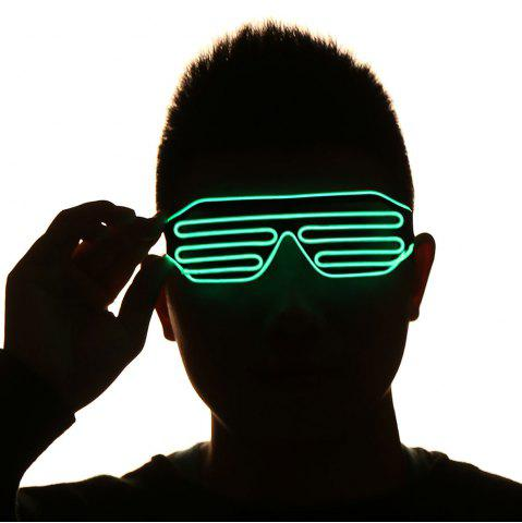 Unique LED Flashing Shutter Party Glasses GREEN
