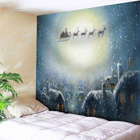 Shop Christmas Sled Moon Wall Tapestry - W79 INCH * L59 INCH CLOUDY Mobile