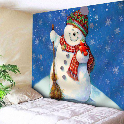 Store Christmas Wall Hanging Snowman Tapestry - W79 INCH * L59 INCH BLUE Mobile