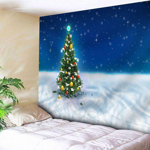 Shop Wall Art Christmas Tree Bedroom Tapestry - W79 INCH * L59 INCH BLUE Mobile