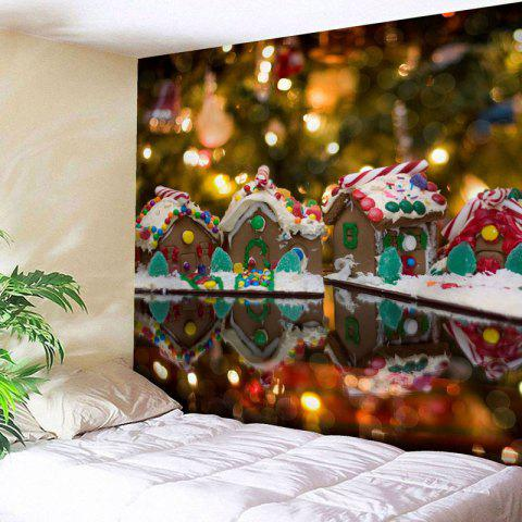 Shops Wall Decor Christmas Chocolate House Tapestry - W79 INCH * L59 INCH COLORMIX Mobile
