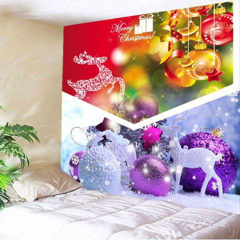 New Wall Hanging Christmas Gift Ball Pattern Tapestry - W59 INCH * L51 INCH COLORFUL Mobile