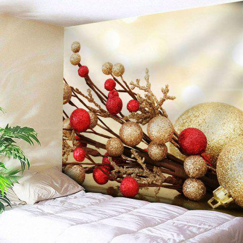Best Wall Art Christmas Printed Tapestry - W79 INCH * L59 INCH LIGHT YELLOW Mobile