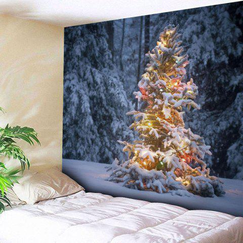 Latest Christmas Snow Tree Wall Hanging Tapestry - W79 INCH * L59 INCH COLORMIX Mobile