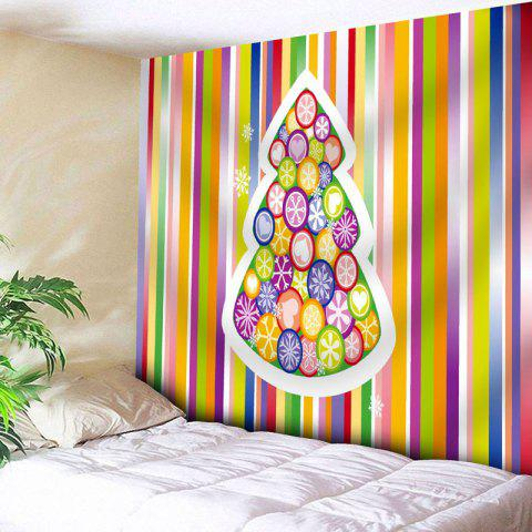 Outfits Christmas Tree Stripe Wall Tapestry - W79 INCH * L59 INCH STRIPE Mobile