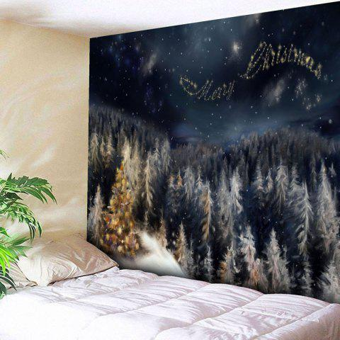 Shops Merry Christmas Tree Wall Decor Tapestry - W79 INCH * L59 INCH BLACK BLUE Mobile