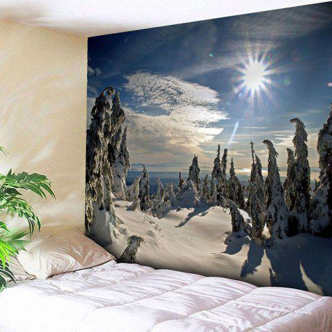 Best Wall Decor Christmas Snowscape Tapestry BLUE W79 INCH * L59 INCH