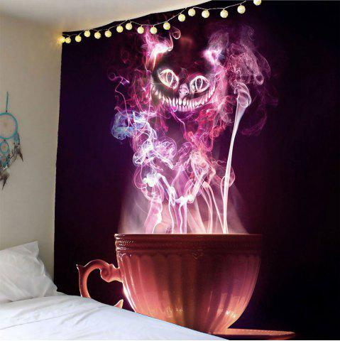 Online Halloween Cup Goblins Waterproof Hanging Tapestry - W91 INCH * L71 INCH COLORFUL Mobile