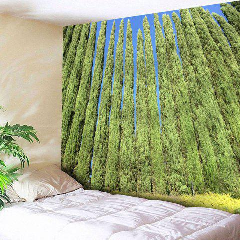 Discount Wall Decor Tree Print Bedroom Tapestry GREEN W79 INCH * L71 INCH