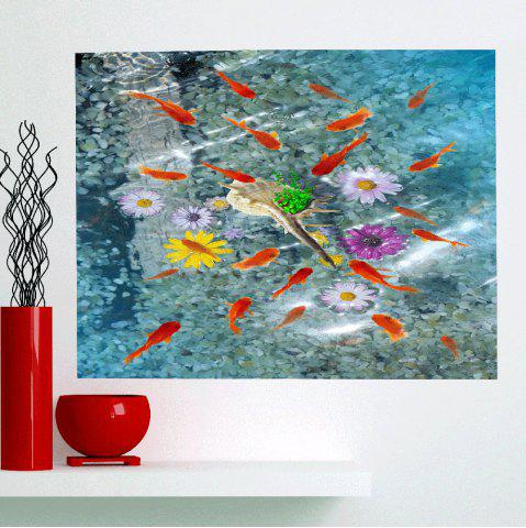 Chic Removable Fishes In Water Patterned Multifunction Wall Art Painting CLOUDY 1PC:24*35 INCH( NO FRAME )
