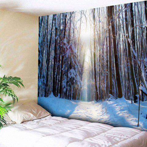 Online Wall Decor Snowscape Pattern Tapestry WHITE W59 INCH * L51 INCH
