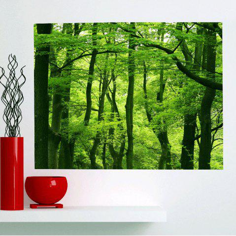 Trendy Multifunction Fresh Forest Waterproof Stick-on Wall Art Painting GREEN 1PC:24*35 INCH( NO FRAME )