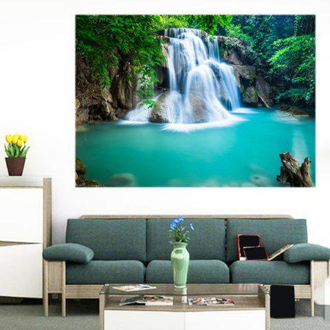 Outfit Multifunction Mountain Waterfall Patterned Removable Wall Art Painting GREEN 1PC:24*35 INCH( NO FRAME )