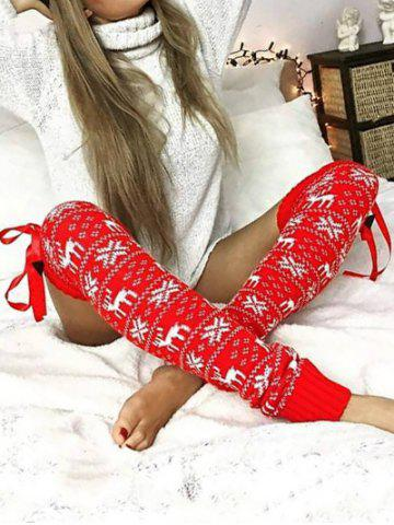 Buy Over The Knee Crochet Christmas Leg Warmer