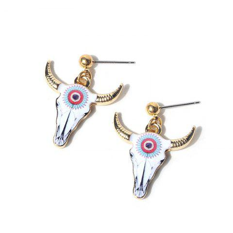 Affordable Ox Head Alloy Stud Earrings - WHITE  Mobile