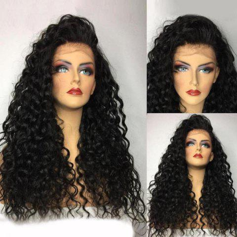 Buy Long Free Part Fluffy Water Wave Lace Front Human Hair Wig