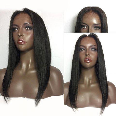 Shops Center Parting Medium Straight Lace Front Human Hair Wig